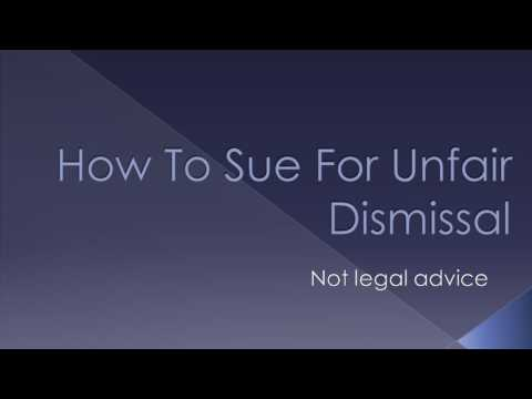 How To Sue For Unfair Dismissal