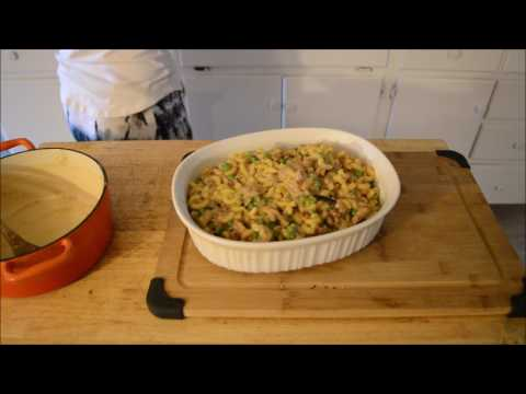 making Tuna Casserole (Gluten/Dairy free)