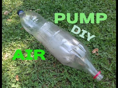 How to make a simple air pump using  2 plastic bottles DIY