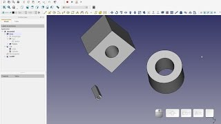 FreeCAD Quickie - Quick Demo of Draft Mirror - PakVim net HD