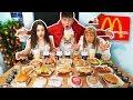 ENTIRE McDonald's Menu in 10 MIN Challenge!! *WORLD RECORD*