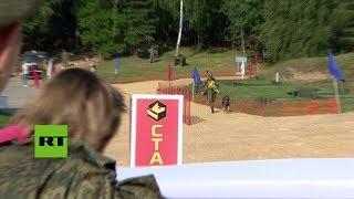 Carrera De Perros Durante Los Juegos Militares Internacionales