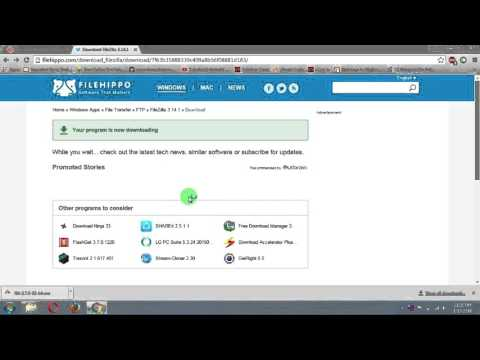 How to install Filezilla Ftp Client on windows | windows 7