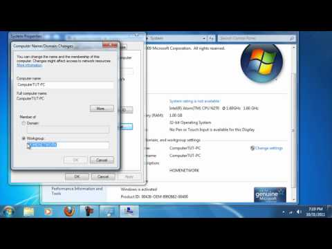 How to: Setup Workgroup for Windows 7, Vista, & XP