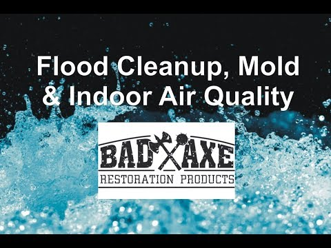 Flood Cleanup Mold and Indoor Air Quality by Bad Axe Restoration Products