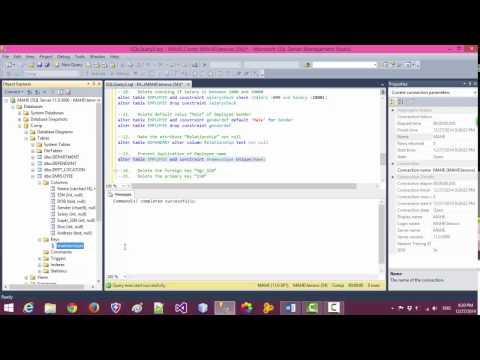 Create Alter Drop Insert Delete Update Data In Database SQL Server