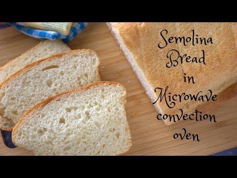 Semolina Bread Recipe in Microwave Convection Oven | Rava Bread Recipe  | Microwave baking