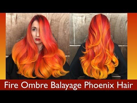 Fire Ombre Balayage Phoenix Hair