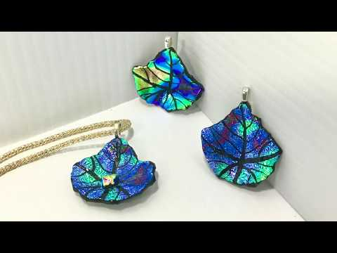 #56 Etched Dichroic Leaves