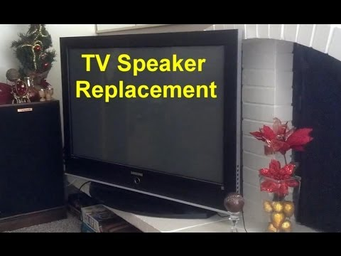 TV speaker replacement, bad speaker, flat panel TV, plasma, LCD, LED, etc.