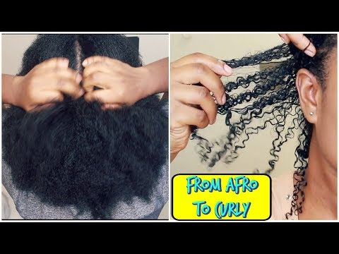 How I Revert Back to Curly After African Hair Threading | Wash Day |