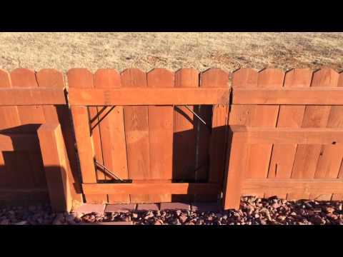 Fix a Sagging Wooden Gate