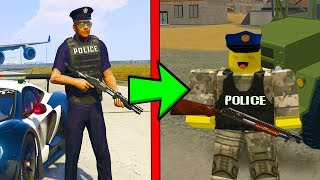 PLAYING GRAND THEFT AUTO 5 IN ROBLOX!