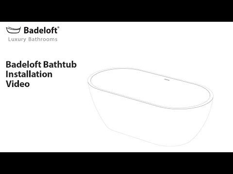 Badeloft Freestanding Bathtub Installation Using the EZ Drop-in Drain