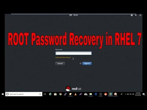 ROOT Password Recovery in RHEL 7