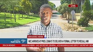 NEC arrives at Pres. Zuma