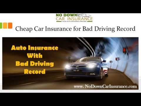 Get Car Insurance for Drivers with Bad Driving Record