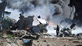 Raw Video: Ethiopian Plane on Fire - Mogadishu Airport 2013