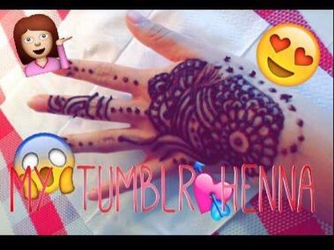 ♡ My Tumblr Inspired Henna Tattoo! ♡ [n1]