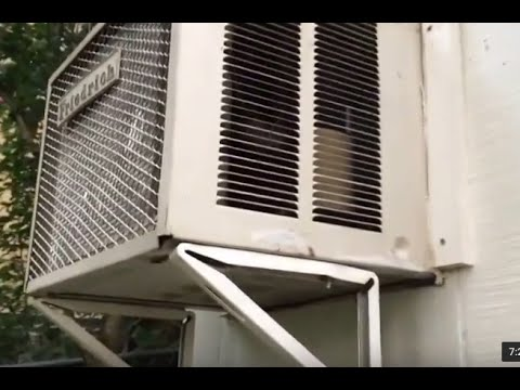 Installing/remove through the wall air conditioner