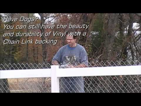 Lone Star Vinyl Fence - 3 Rail w/Chain Link