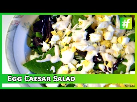 Egg Caesar Salad with Thousand Island Dressing | Easy Cooking Recipe | Healthy Food Recipe