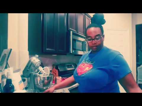 Jamaican rum cake cooking with D