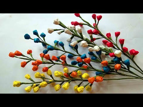 How to make flower with Carry Bags    Plastic Flower    DIY Craft Ideas