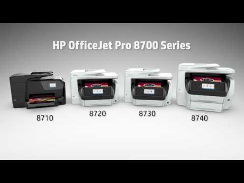 HP OfficeJet Pro 8700 All-in-One series video