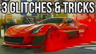GTA 5 Online - 3 NEW GLITCHES & TRICKS (Custom Shop Glitch, Invincible Glitch & Rare Plane Trick)