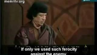 Gaddafi speech: