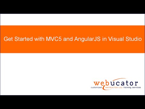 Get Started with MVC5 and AngularJS in Visual Studio