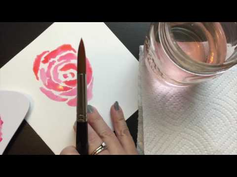How To Watercolor Paint A Rose with Markers | Marvy Uchida