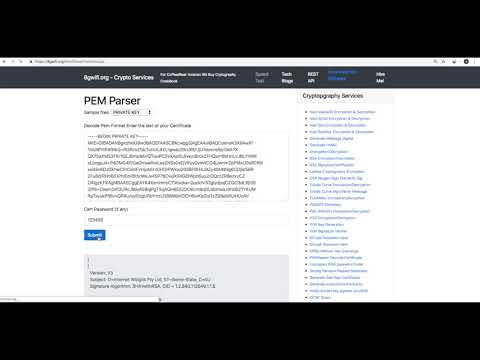 parse openssl pem file online