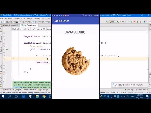 Cookie Eater App | Android App Development Video # 04