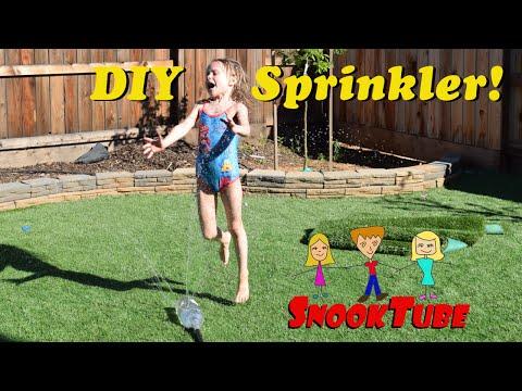 DIY homemade summer sprinkler for the kids - Easy to make! Cool off on those hot summer days!