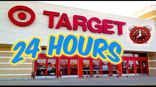 (KICKED OUT) 24 HOUR OVERNIGHT in TARGET TOILET PAPER FORT | OVERNIGHT CHALLENGE TARGET (GONE WRONG)