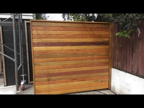 Hardwood Privacy Screen | Moving Outdoor Wooden Screen