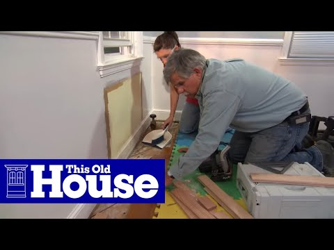 How to Repair a Tongue-and-Groove Wood Floor - This Old House