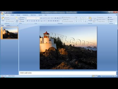 PowerPoint Training |How to Quickly Create Text Effects Transparency