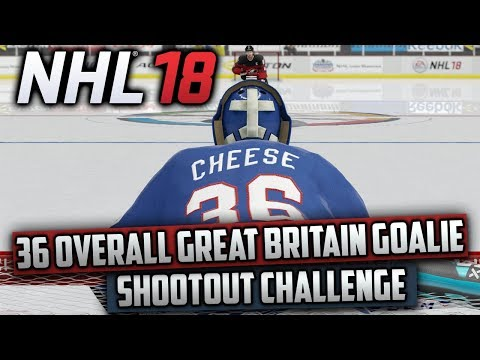 Can a 36 Overall Goalie on Great Britain Beat Canada in a Shootout on Superstar? (NHL 18 Challenge)