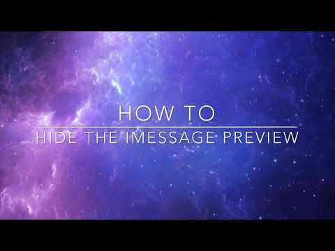 How To | Hide The iMessage Preview
