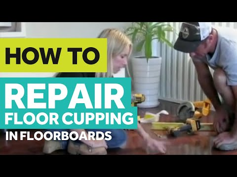 RFP TV TIP#33 - HOW TO REPAIR CUPPING IN FLOORBOARDS by Cherie Barber