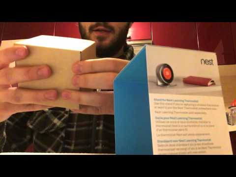 Nest thermostat stand unboxing