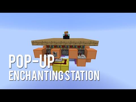 Redstone: Fancy Pop-Up Enchanting Station [Tutorial]