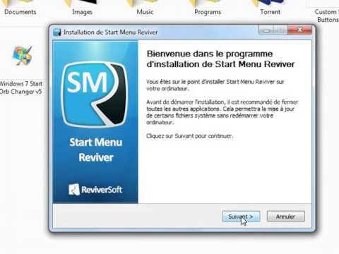 comment modifier votre menuy démarrer windows 7 avec Start Menu Reviver