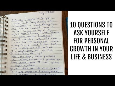 10 Questions to Ask Yourself for Personal Growth in Your Life & Business