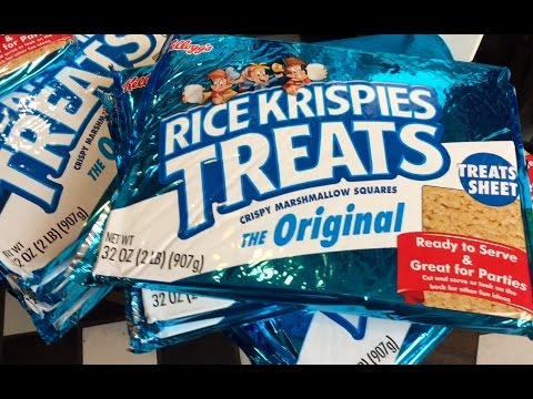 Giant packages of Rice Krispies Treats
