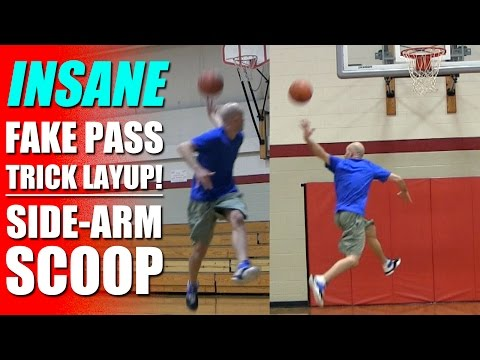 Crazy Trick Shot And Pass COMBINED! Sidearm Scoop! How To: Basketball Trick Shots | Snake