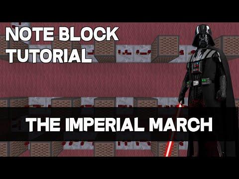 Star Wars - Imperial March [Minecraft Note Block Doorbell Tutorial]